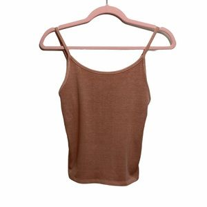 American Eagle Outfitters Peach Ribbed Tank Top
